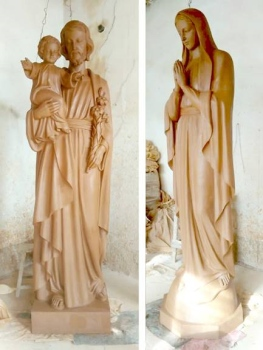saints statues - clay models