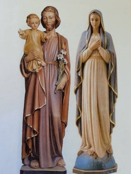 saints statues - final with realistic painted finish