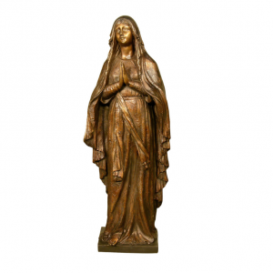 Bronze Our Lady of Lourdes Statue
