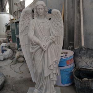Marble St Gabriel statue