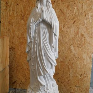 Marble Our Lady of Lourdes statue