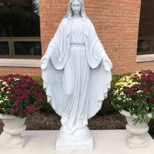 Marble Mary Statue