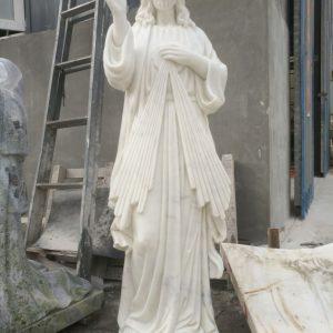 Marble Divine Mercy statue