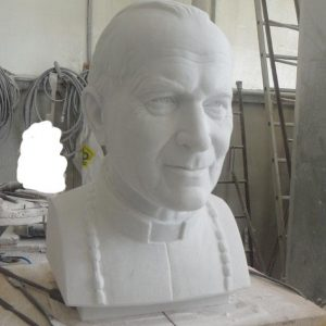 Pope John Paul marble Bust