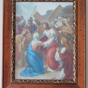 Beautiful on canvas framed Stations of the Cross