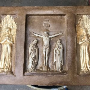 Large rectangular set of Stations of the Cross