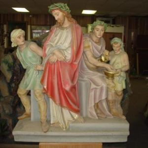 Large Vintage Set of 3 Dimensional Stations of the Cross